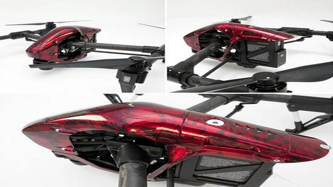 Drone - Hydro Dipped with Skulls finish